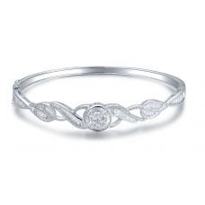 Thurston Prong Diamond Bangle 18K White Gold