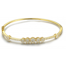 Oriel Prong Diamond Bangle 18K White Gold