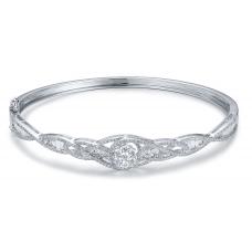 Juno Prong Diamond Bangle 18K White Gold