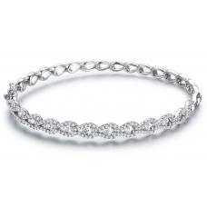 Samira Prong Diamond Bangle 18K White Gold