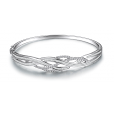Azrael Prong Diamond Bangle 18K White Gold