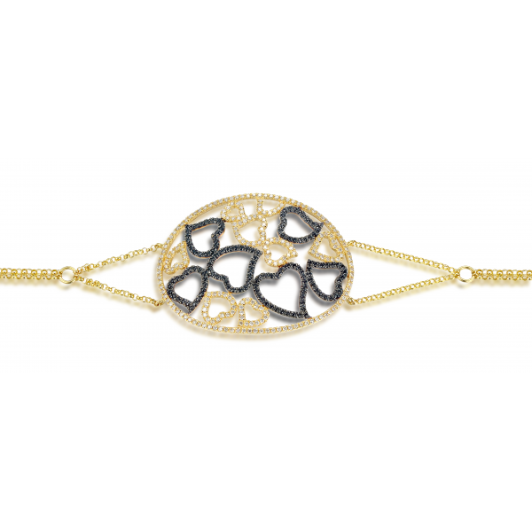 Kimana Spinel Diamond Bracelet 18K Yellow Gold