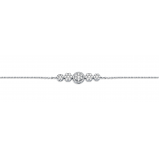 Dakota Cluster Diamond Bracelet 18K White Gold