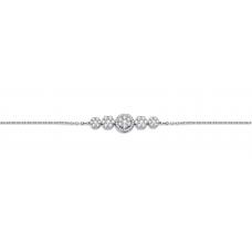 Dakota Cluster Diamond Bracelet 18K White Gold