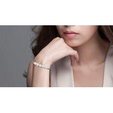 Amerie Cluster Diamond Bracelet 18K White Gold