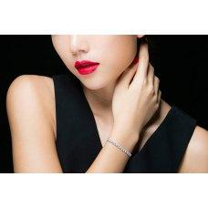 Kennedy Sapphire Diamond Bracelet 18K White Gold