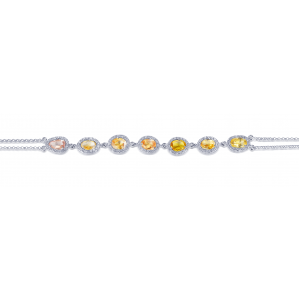 Shira Prong Diamond Bracelet 18K White Gold