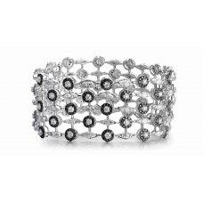 Atticus Prong Diamond Bracelet 18K White Gold