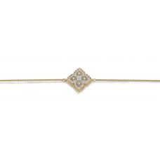 Latoya Prong Diamond Bracelet 18K Yellow Gold