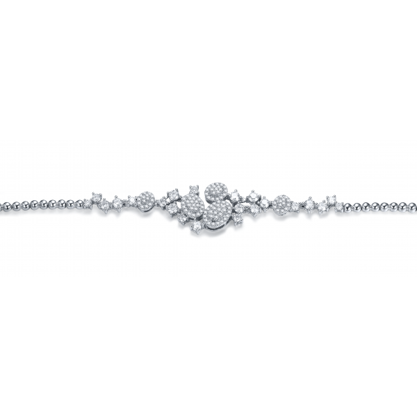 Liberty Prong Diamond Bracelet 18K White Gold