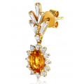 Lashea Sapphire Diamond Earring 18K Yellow Gold