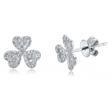 Terez Pave Diamond Earring 18K White Gold