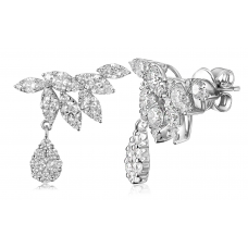 Frondoso Diamond Earring 18K White Gold