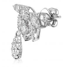 Frondoso Diamond Earring 18K White Gold
