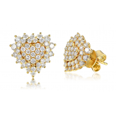 Cybil Cluster Diamond Earring 18K Yellow Gold