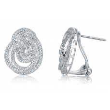 Ballerain Diamond Earring 18K White Gold