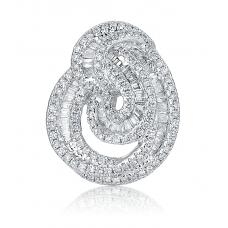 Ballerain Diamond Earring 18K White Gold