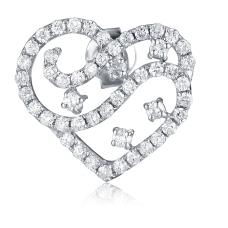 Brawley Channel Diamond Earring 18K White Gold
