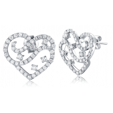 Brawley Channel Diamond Earring 18K White Gold