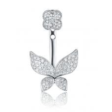 Terrace Diamond Earring 18K White Gold