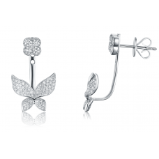 Terrace Diamond Earring 18K White Gold