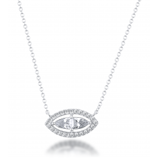 Feodora Diamond Necklace 18K White Gold