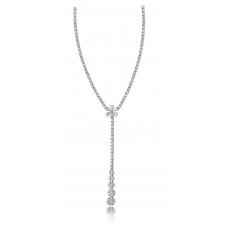 Gaia Prong Diamond Necklace 18K White Gold