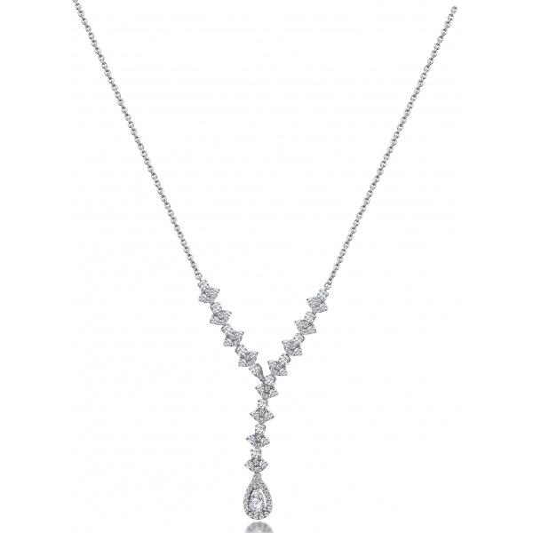 Hecate Prong Diamond Necklace 18K White Gold