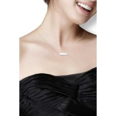 Karis Bezel Diamond Necklace 18K White Gold