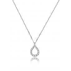 Vita Prong diamond Necklace 18K White Gold
