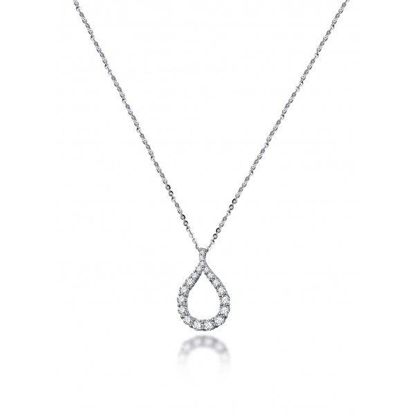 Vita Prong diamond Necklace 18K White Gold