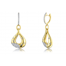 Jude Prong Diamond Earring 18K Yellow Gold
