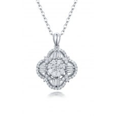 Tella Cluster Diamond pendant 18K White Gold