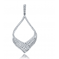 Gorda Prong Diamond Pendant 18K White Gold