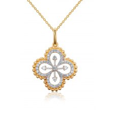 Hurley Prong Diamond Pendant 18K Yellow Gold