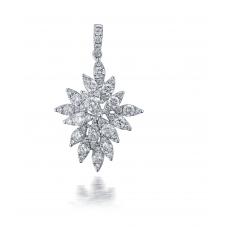 Magnus Prong Diamond Pendant 18K White Gold