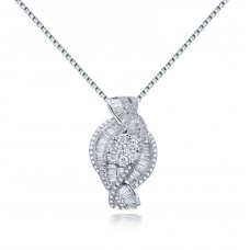Midas Prong Diamond Pendant 18K White Gold