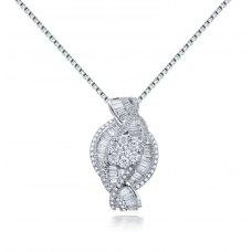 Midas Prong Diamond Pendant 18K White Gold