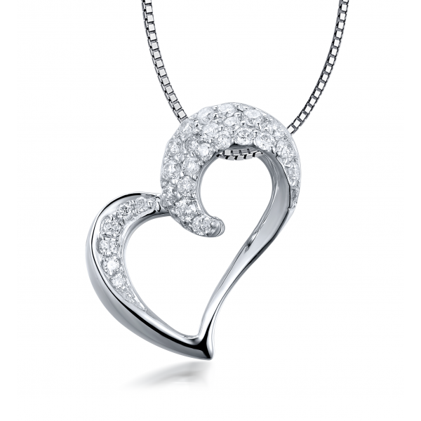 Danna Pave Diamond Pendant 18K White Gold