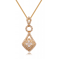 Corrina Diamond Pendant 18K Yellow Gold