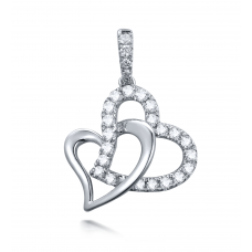 Camila Prong Diamond Pendant 18K White Gold