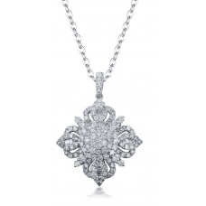 Yasmin Diamond Pendant 18K White Gold