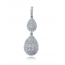 Madison Cluster Diamond Pendant 18K White Gold