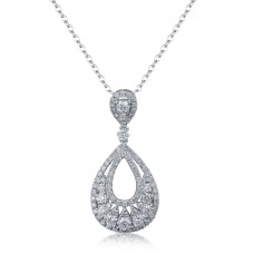 Maverick Prong Diamond Pendant 18K White Gold
