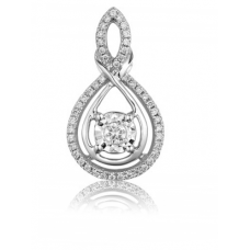 Nobel Illusion Diamond Pendant 18K White Gold