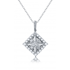Cyrena Diamond Pendant 18K White Gold