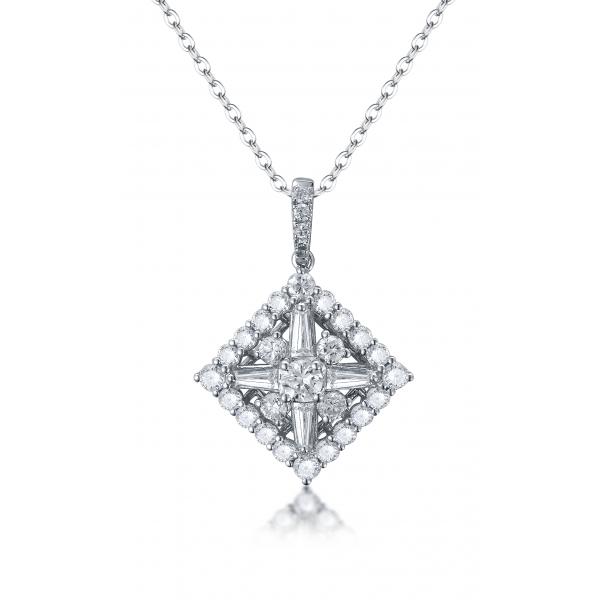 Cyrena Diamond Pendant 18K White Gold