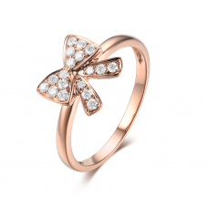 Alissa Pave Diamond Ring 18K Rose Gold