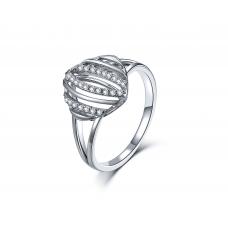 Scarlet Prong Diamond Ring 18K White Gold