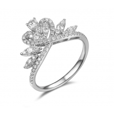 Coburn Prong Diamond Ring 18K White Gold